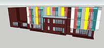 现代简约学校3D模型