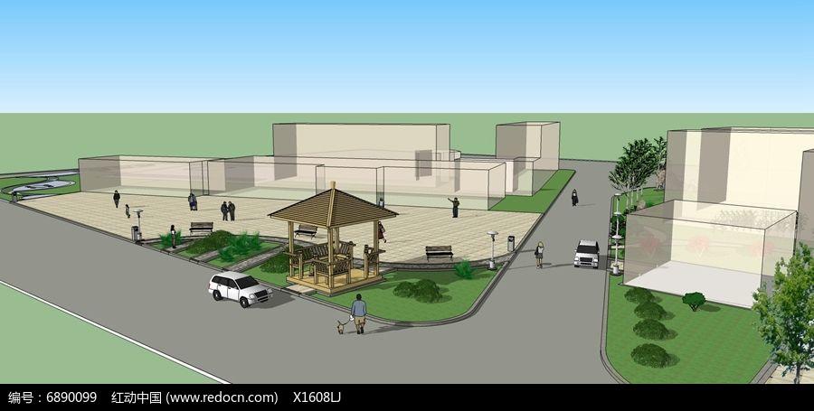 小型广场绿地设计