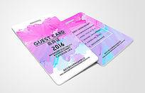 艺术类彩色渲染嘉宾证设计模板