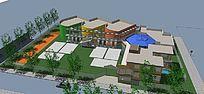 幼儿园设计方案3D模型