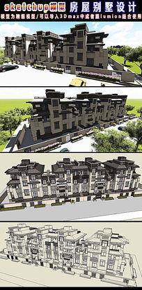 房屋别墅设计SU模型