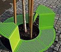 树池绿色花样设计