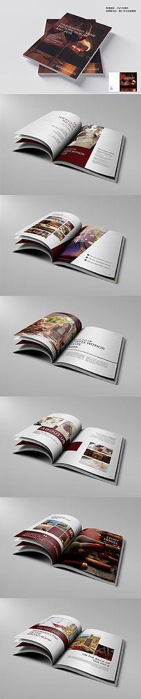 高端时尚红酒画册版式设计模板