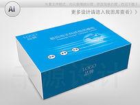 蓝色品牌电子数码产品包装彩盒