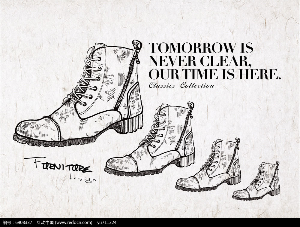 手绘素描风格运动鞋插画eps素材下载_其他插画设计图片