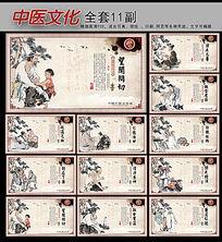 中医文化古典国画人物文化挂图展板设计
