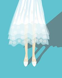 白色裙子的女孩
