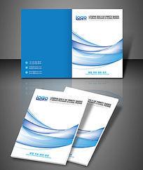 简约蓝色科技数码企业商务封面