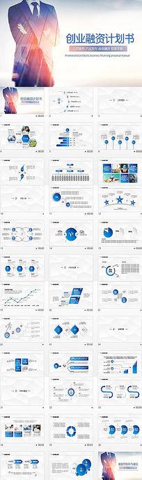 精品创业融资计划书营销策划书ppt模板下载