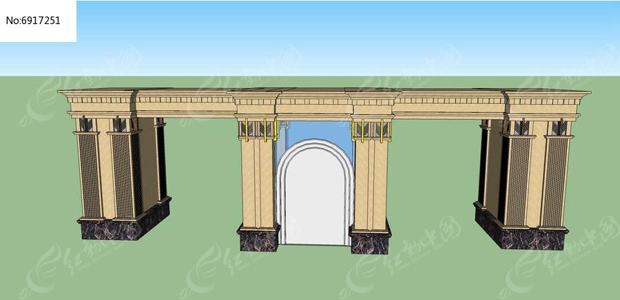 欧式拱形门大门