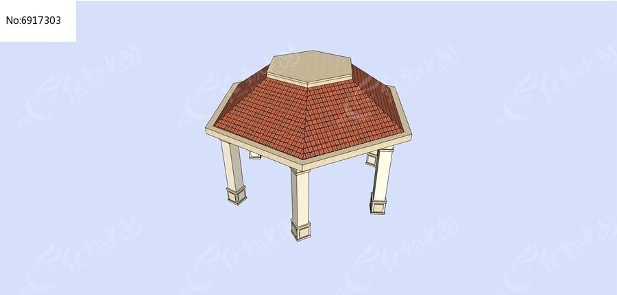 欧式六角亭素材下载_构筑物设计图片
