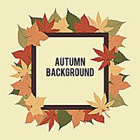 秋天树叶标题边框