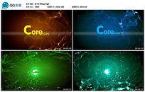 会声会影X8粒子汇聚logo片头展示