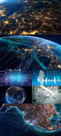 科技地球连线互联网商务办公视频