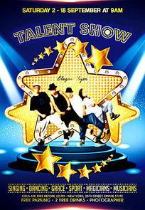 欧美国外酒吧舞蹈乐团才艺表演演出宣传海报PSD素材