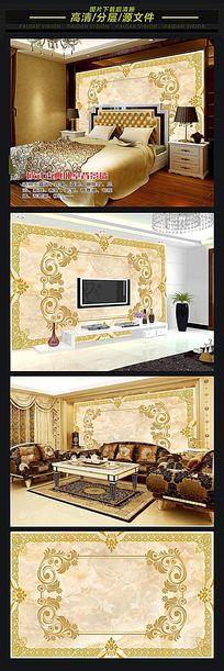 欧式大理石电视背景墙装饰画