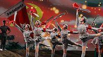 配乐成品歌曲红色娘子军连歌动态背景视频