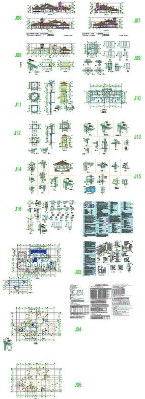 别墅户型模板CAD图