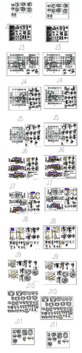别墅住宅CAD图纸