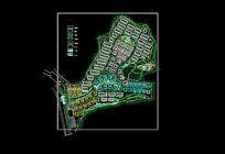 滨海小区环境景观规划平面图