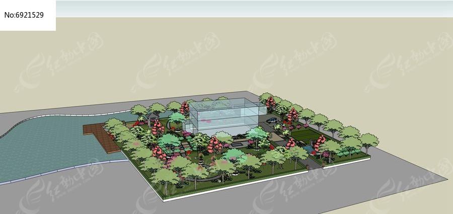 滨水度假别墅景观设计图片