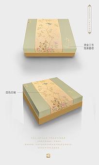 淡雅大气月饼包装设计