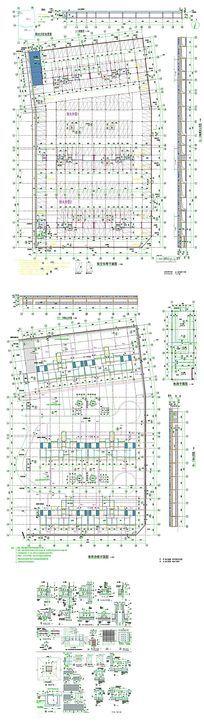 地产空车库CAD图纸 dwg