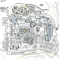 酒店整体平面图CAD图