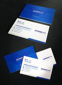 蓝色自动化科技公司名片