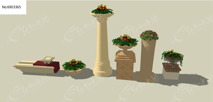 欧式花坛素材下载_花坛树池设计图片