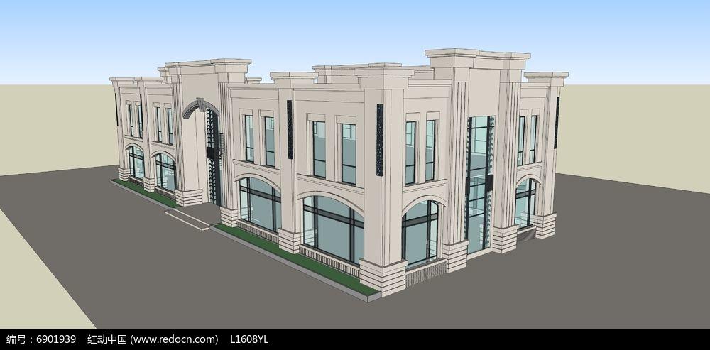欧式售楼部素材下载_建筑设计图片