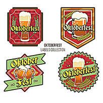 啤酒标签设计模版AI矢量素材