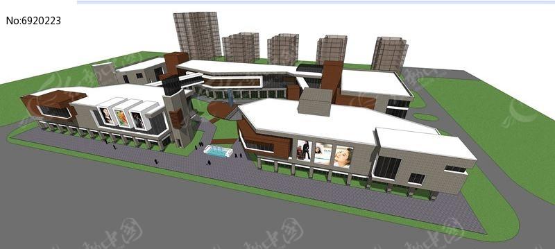 现代造型商业街