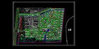 小区景观绿化总平面图