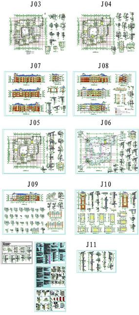 园林别墅住宅CAD图纸