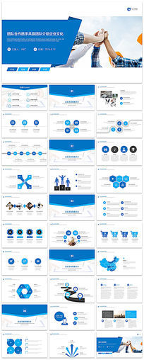 团队介绍企业文化PPT模板