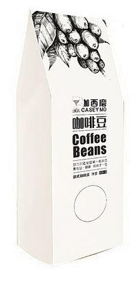 1磅454克装立式白色牛皮纸咖西磨意式咖啡豆包装袋设计