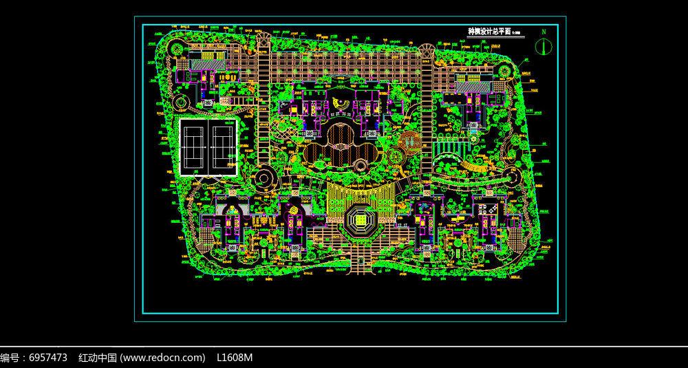 某别墅种植设计总平面图dwg素材下载