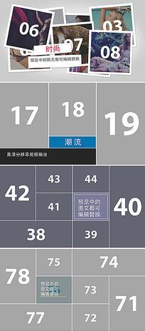 100多张照片排版设计展示ae模板