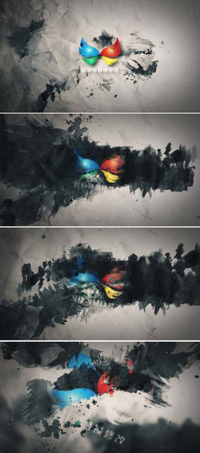 水墨中国风logo标志开场片头模板