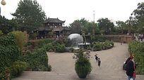 四川成都黄龙溪古镇实拍素材龙潭广场视频