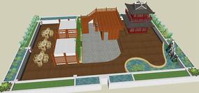 中式古典庭院景观