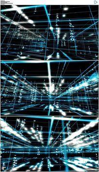 蓝色科技空间数据线条穿梭背景视频