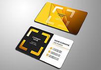 橙色摄影行业名片设计