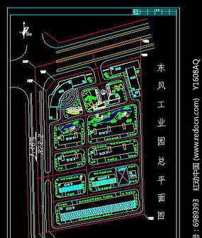 东风工业园总平面图 dwg
