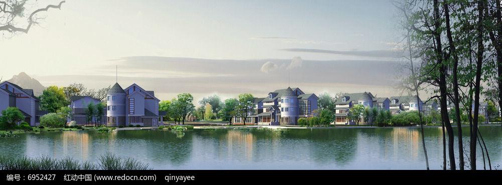 水景别墅景观效果图