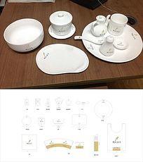 餐饮餐具设计 CDR