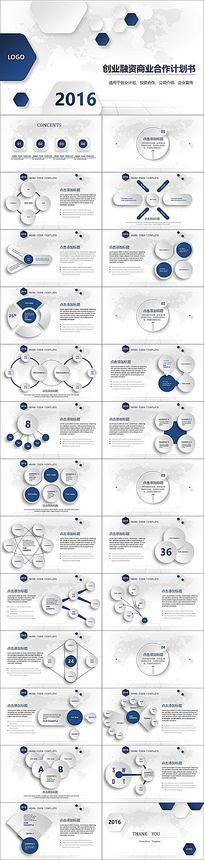大气商业策划书创业计划项目投资PPT模板 pptx