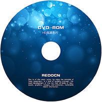 蓝色炫光光碟