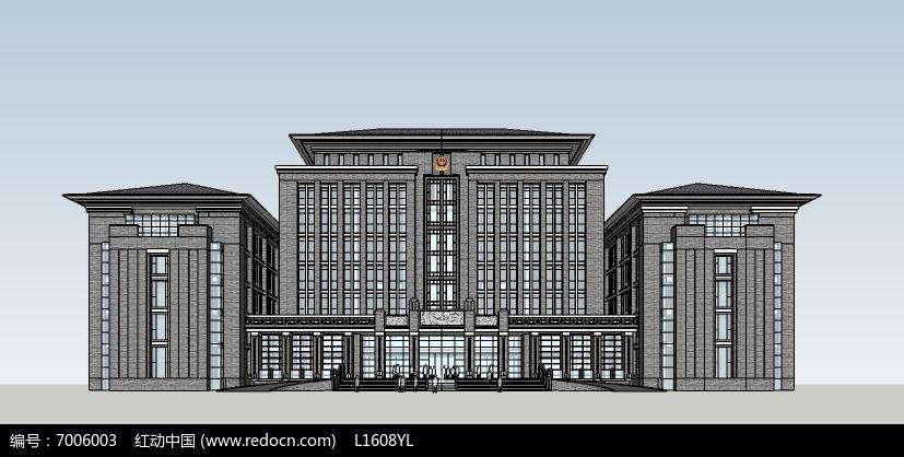 中式风格政府办公大楼